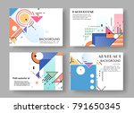 horizontal a4 modern abstract... | Shutterstock .eps vector #791650345