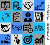 business vector icon set... | Shutterstock .eps vector #791650771