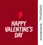 happy valentine's day with red...   Shutterstock .eps vector #791655601