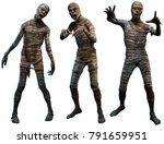 Mummies 3d Illustration