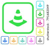 traffic cone vivid colored flat ... | Shutterstock .eps vector #791682049