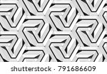 architectural wall white tiles... | Shutterstock . vector #791686609