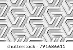 architectural wall 3d white... | Shutterstock . vector #791686615