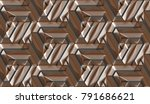3d architectural wall brown... | Shutterstock . vector #791686621