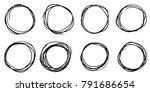 doodle vector circles. hand...   Shutterstock .eps vector #791686654
