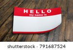 identity name tag | Shutterstock . vector #791687524