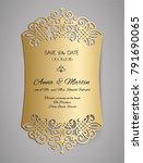 wedding invitation or greeting... | Shutterstock .eps vector #791690065