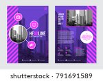 business leaflet template... | Shutterstock .eps vector #791691589