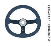 icon of  steering wheel . flat... | Shutterstock .eps vector #791694865