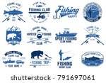 fishing club. concept for shirt ... | Shutterstock . vector #791697061
