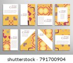 set of a4 cover  abstract...   Shutterstock .eps vector #791700904