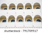 arch facade. arch window.... | Shutterstock . vector #791709517