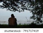 man talking on the phone.  | Shutterstock . vector #791717419
