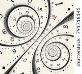 abstract modern clock spiral... | Shutterstock . vector #791718145