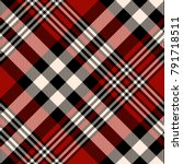 plaid check patten in red ... | Shutterstock .eps vector #791718511
