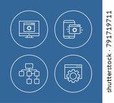 programming and coding digital... | Shutterstock .eps vector #791719711