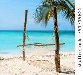 beautiful colorful seascape... | Shutterstock . vector #791719825
