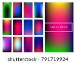 set of soft color gradients... | Shutterstock .eps vector #791719924