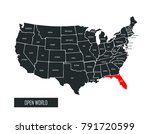 usa vector map | Shutterstock .eps vector #791720599