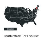 usa vector map   Shutterstock .eps vector #791720659