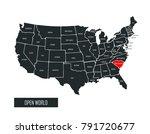 usa vector map | Shutterstock .eps vector #791720677