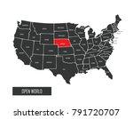 usa vector map | Shutterstock .eps vector #791720707