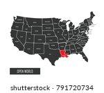 usa vector map | Shutterstock .eps vector #791720734