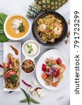 combination of thai dishes... | Shutterstock . vector #791723299