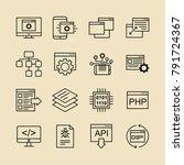information technology it... | Shutterstock .eps vector #791724367