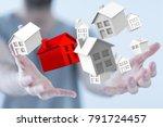 house 3d touch | Shutterstock . vector #791724457