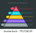 colorful hierarchy pyramid... | Shutterstock .eps vector #791728159