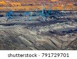 coal mine opencast mining and... | Shutterstock . vector #791729701