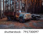 Old Rusty Abandoned Truck In...
