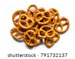 Salt pretzels isolated on white ...