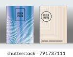 minimal placard. vector... | Shutterstock .eps vector #791737111