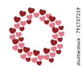 hearts and love frame | Shutterstock .eps vector #791737219