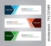 abstract modern banner... | Shutterstock .eps vector #791737489