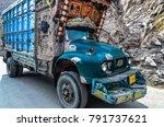 pakistan april 2016 a lorry... | Shutterstock . vector #791737621