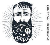 illustration with beardedman... | Shutterstock .eps vector #791737855