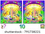 logic puzzle game for children... | Shutterstock .eps vector #791738221