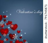 happy valentines day background ... | Shutterstock .eps vector #791745871