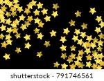 golden confetti isolated on... | Shutterstock .eps vector #791746561