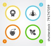 set of 4 year icons set... | Shutterstock .eps vector #791747359