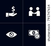 set of 4 startup icons set...   Shutterstock .eps vector #791747614