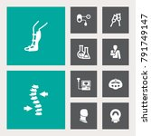 set of 10 healthy icons set... | Shutterstock .eps vector #791749147