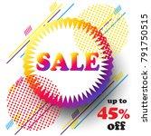 sale discount banner abstract...   Shutterstock .eps vector #791750515