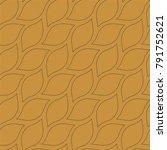 geometric leaves vector...   Shutterstock .eps vector #791752621