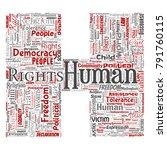 vector conceptual human rights... | Shutterstock .eps vector #791760115