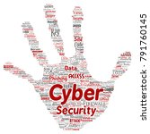 vector conceptual cyber... | Shutterstock .eps vector #791760145