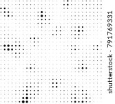 grunge halftone black and white ... | Shutterstock . vector #791769331